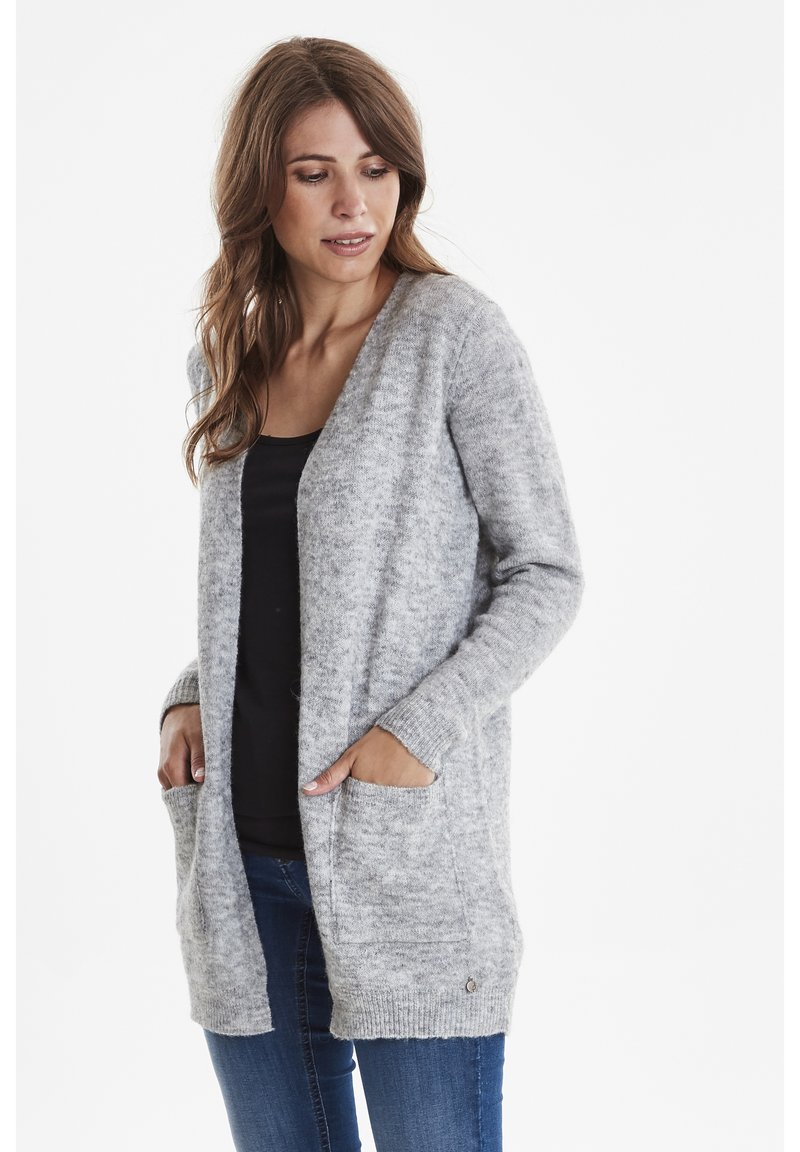 Fransa - FREMALLY - Strickjacke - light grey melange