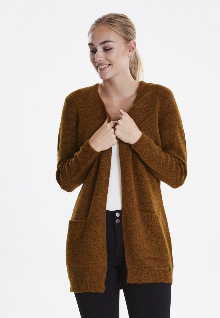 Fransa - FREMALLY - Strikjakke /Cardigans - mottled brown