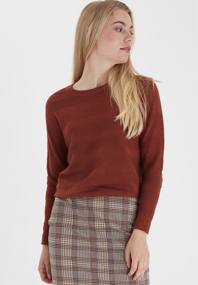FRLETAN - Stickad tröja - barn red