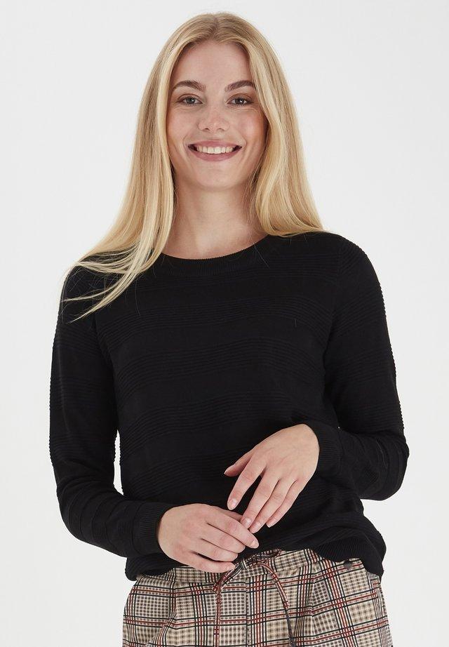 FRLETAN - Stickad tröja - black