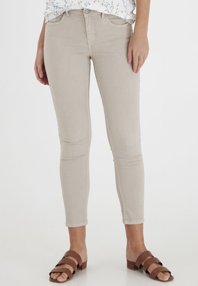 FRCAYELLOW - Jeansy Skinny Fit - tile sand