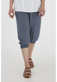 Fransa - 6 PANTS - Shorts - navy blazer mix - 0