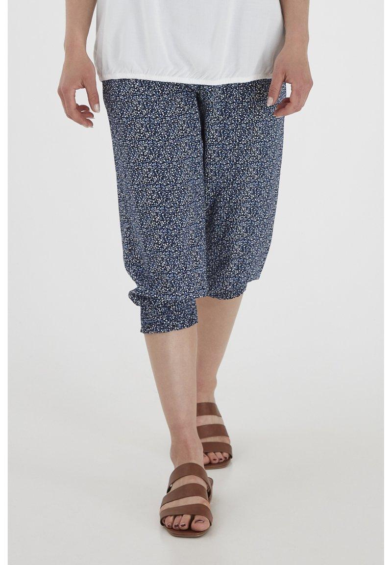 Fransa - 6 PANTS - Shorts - navy blazer mix