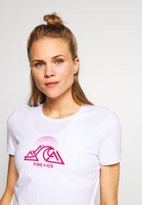 Bogner Fire + Ice - FATUA - T-shirt z nadrukiem - white - 3