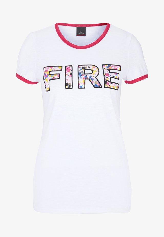 MARLOW - T-Shirt print - white
