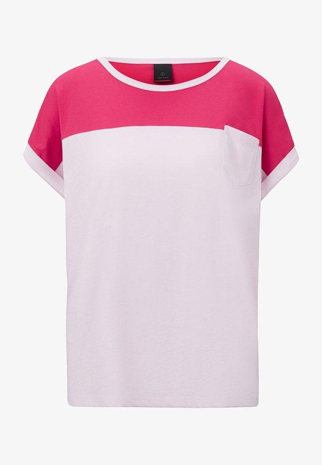 T-Shirt print - hellrosa/fuchsia