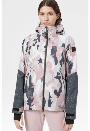 Ski jas - pink/gray/white