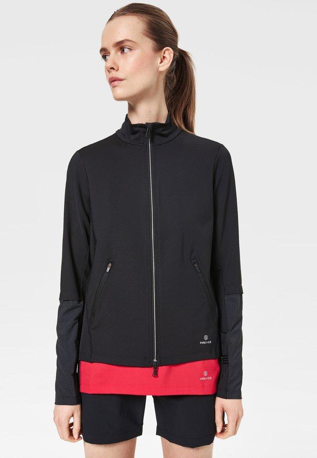 HILDA - Zip-up hoodie - black