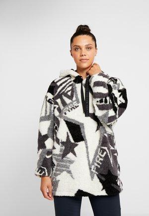 VIVIEN - Bluza z kapturem - grey/white