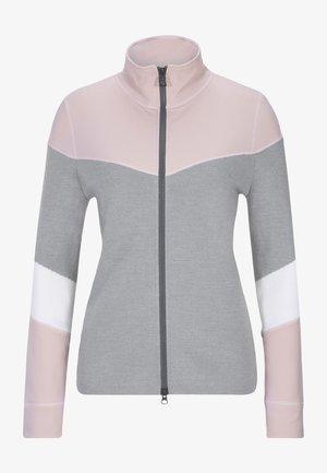 HAZELL - Hoodie met rits - light grey/pink