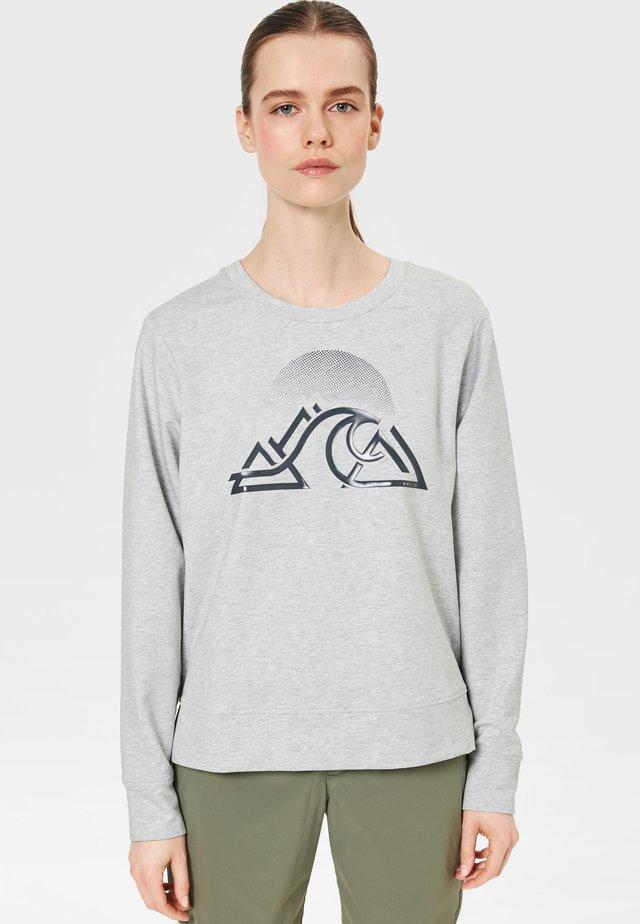 Sweatshirt - light gray mottled