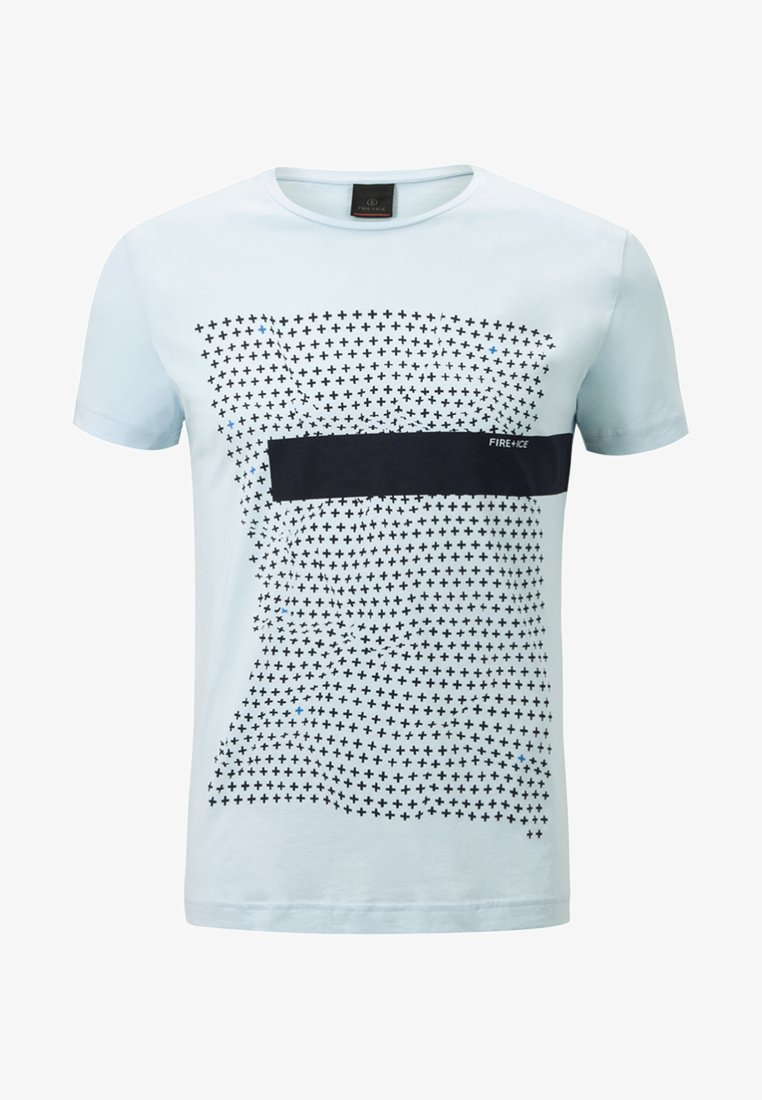 Bogner Fire + Ice - MARIO - T-Shirt print - light blue/black