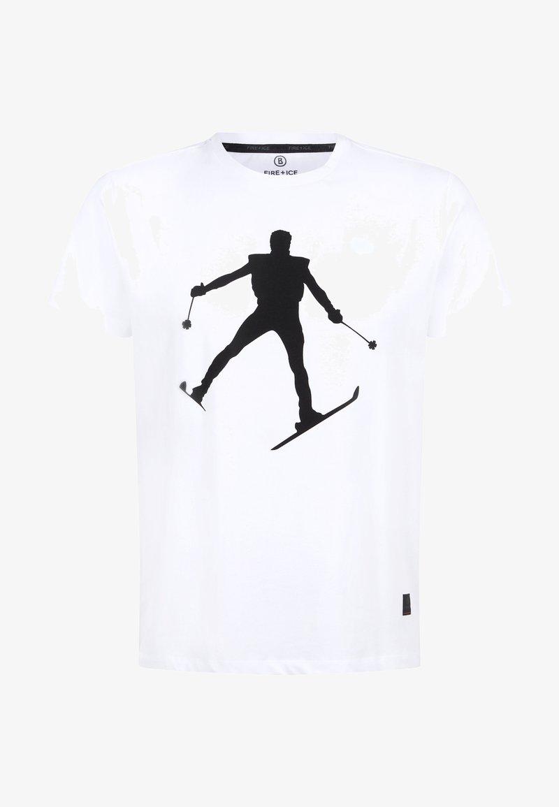 Bogner Fire + Ice - FREDO - Print T-shirt - White/black