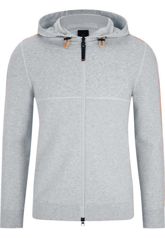Zip-up hoodie - grau meliert