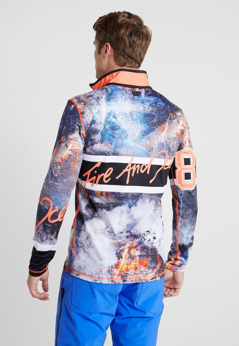 Bogner Fire + Ice - PASCAL - Long sleeved top - black/blue/orange