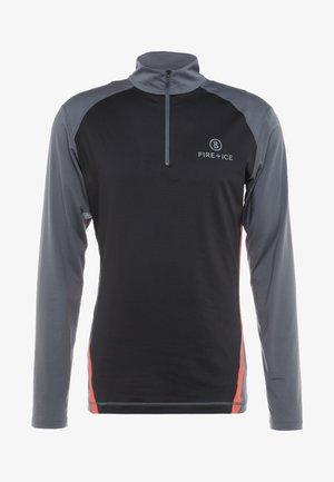 JANIS - Maglietta a manica lunga - grey/black