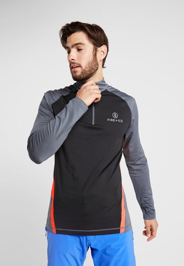 JANIS - Långärmad tröja - grey/black