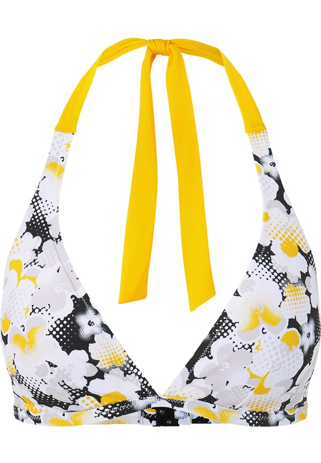JASMIN - Haut de bikini - weiß/gelb/schwarz
