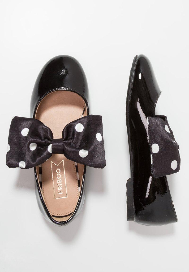 Friboo - Ankle strap ballet pumps - black
