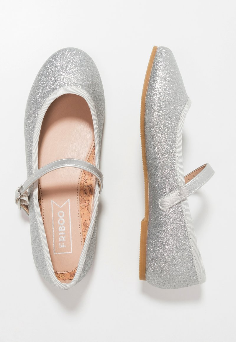 Friboo - Ankle strap ballet pumps - silver