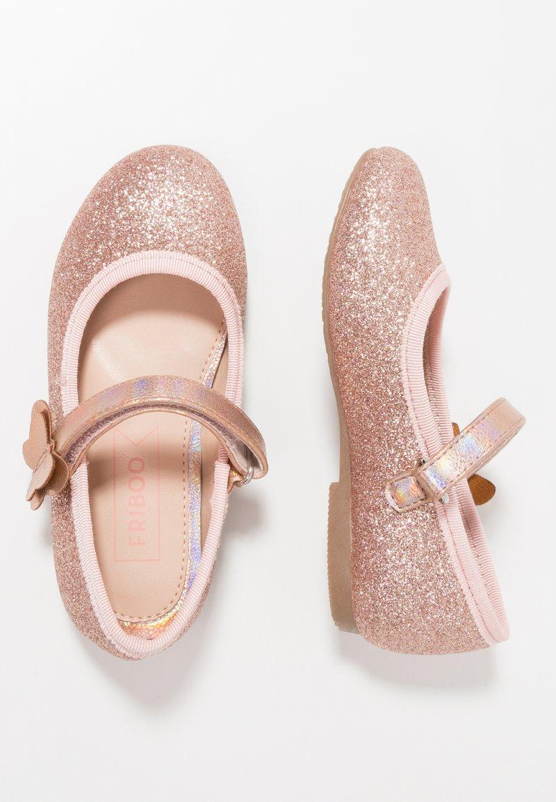 Friboo - Ballerinaskor med remmar - rose gold