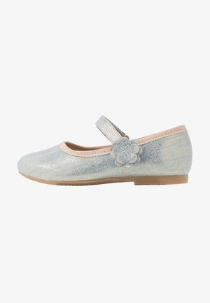 Ankle strap ballet pumps - light blue