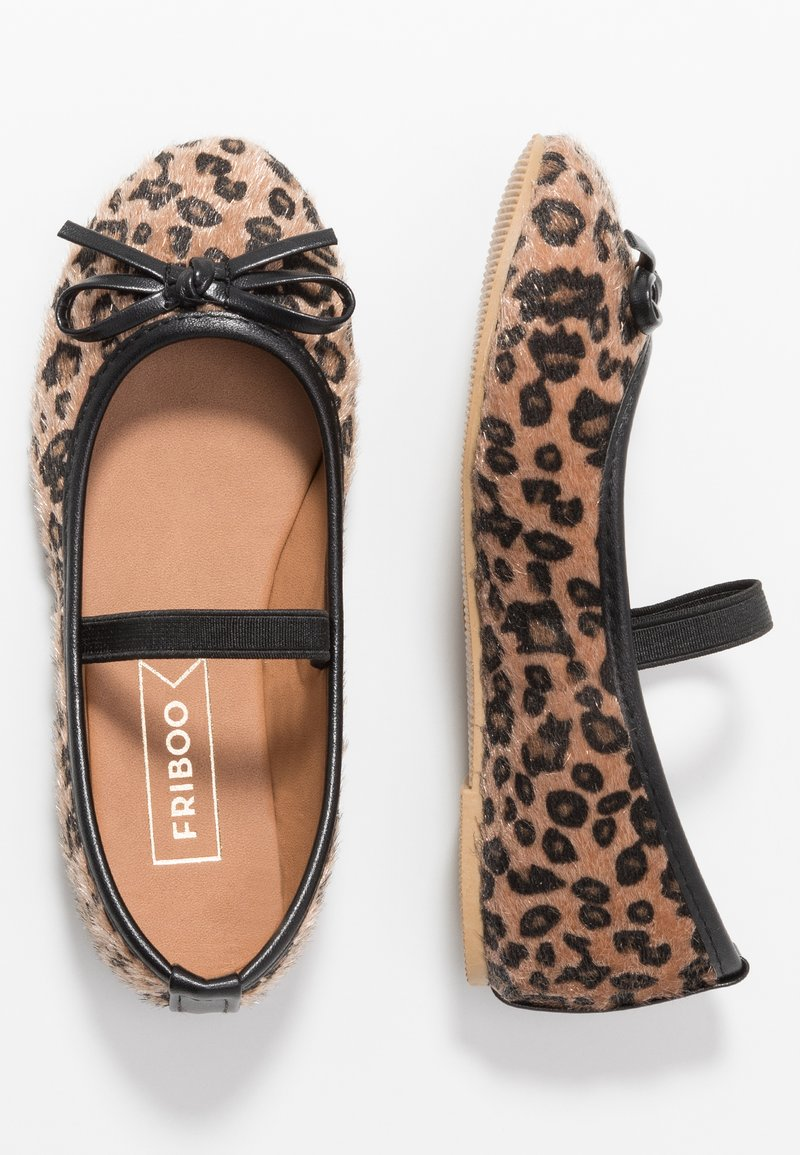 Friboo - Ankle strap ballet pumps - brown