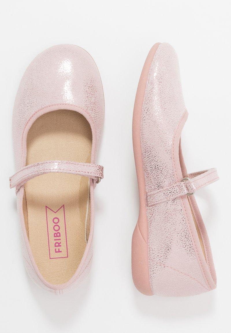 Friboo - Ballerina's met enkelbandjes - mauve