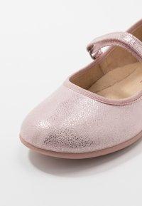 Friboo - Ballerina's met enkelbandjes - mauve - 2