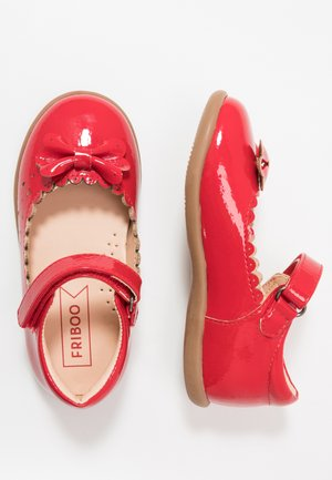 Ankle strap ballet pumps - red