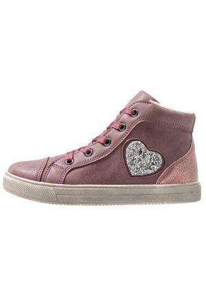 Sneakersy wysokie - bordeaux