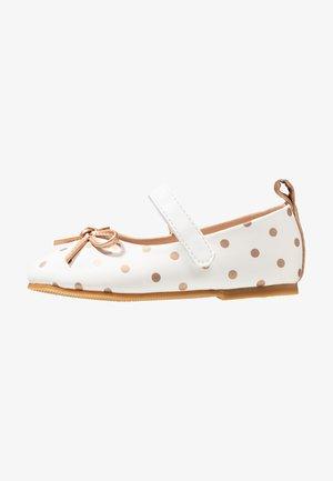 Ballerina's met enkelbandjes - white