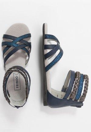 Sandaalit nilkkaremmillä - dark blue