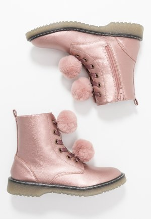 Bottines à lacets - rose