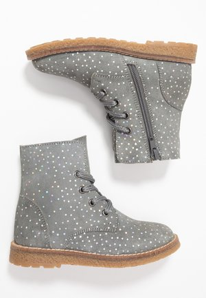 Lace-up ankle boots - dark gray