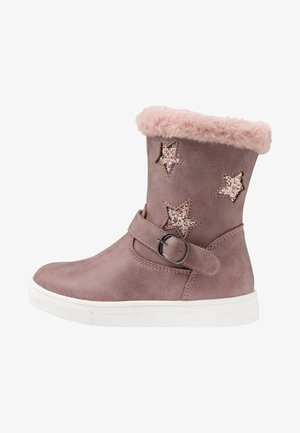 Kotníkové boty - mauve