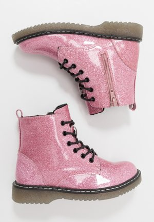 Bottines à lacets - pink