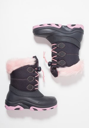 Bottes de neige - dark blue/pink