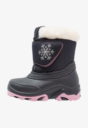 Winter boots - dark blue/pink