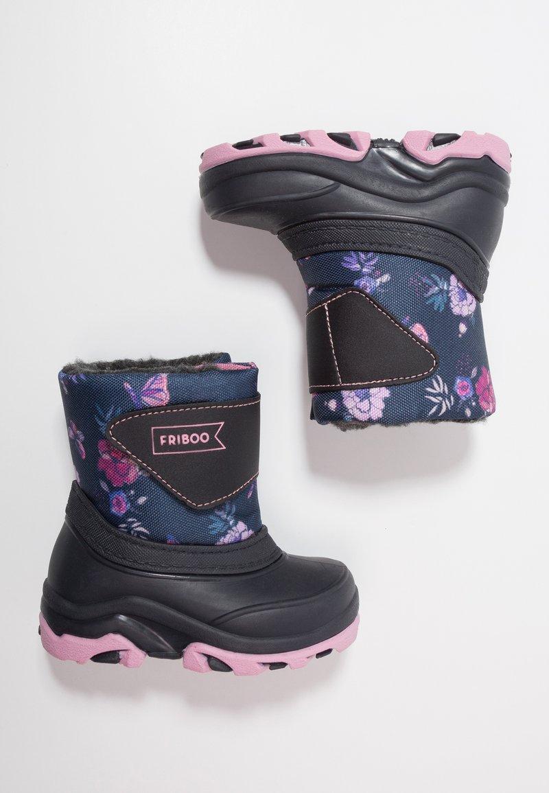 Friboo - Winter boots - dark blue/light pink