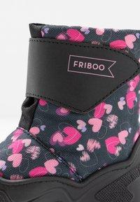 Friboo - Stivali da neve  - black/dark blue - 2