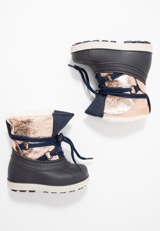 Zimní obuv - dark blue/gold