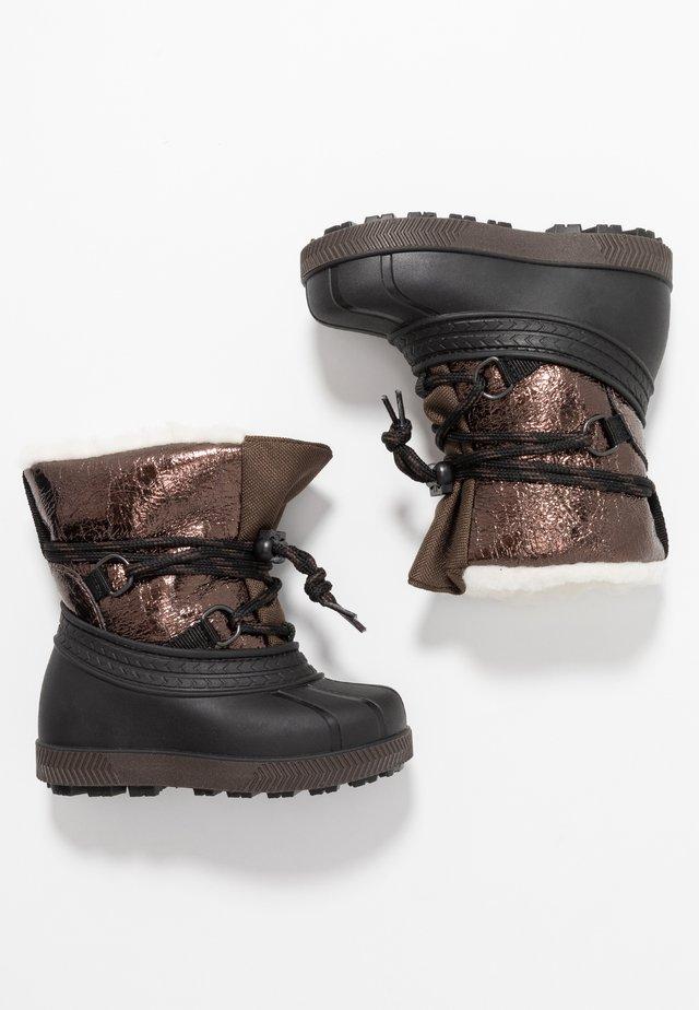 Snowboot/Winterstiefel - bronze/black