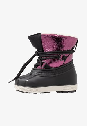 Winter boots - black/berry