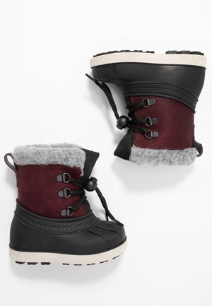 Snowboots  - bordeaux/black