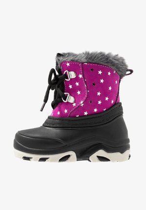 Winter boots - black/pink