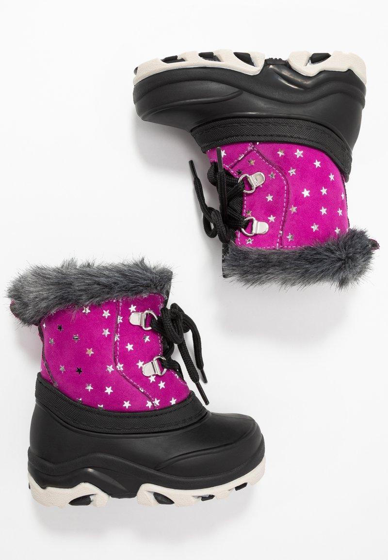 Friboo - Botas para la nieve - black/pink