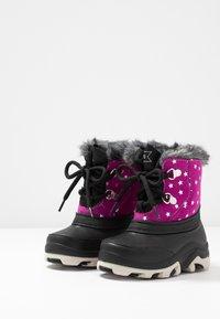 Friboo - Botas para la nieve - black/pink - 3