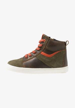 Sneakers high - khaki