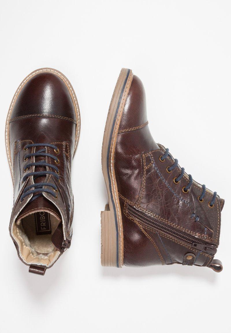 Friboo - Šněrovací kotníkové boty - brown